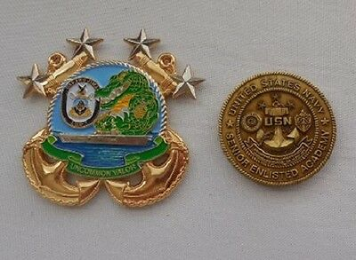 Military USS IWO JIMA LHD 7 CMC Command MASTER CHIEF CHALLENGE COIN US NAVY Ship - Master Chief Navy