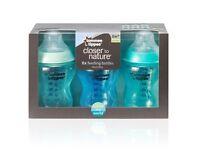 Pack of 6 tommee tippee bottles blue