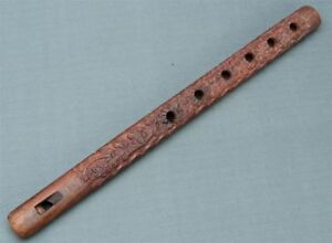 Wood Carving End Blown Indian Flute