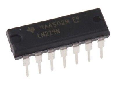 10pcs Texas Instruments Lm224n Lm224 - Quadruple Operational Amplifier - New Ic