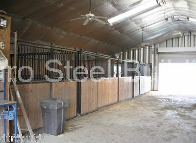 Durospan Steel 30x32x15 Metal Prefab Building Kit Horse Barn Structures Direct