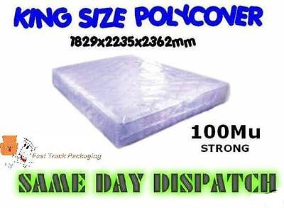 25 x KING SIZE REMOVAL MOVING MATTRESS POLY COVER BAGS