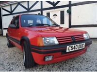 Peugeot 205 gti 1.6 Phase 1 1986 very rare & in excellent condition 20 service stamps with old mot's
