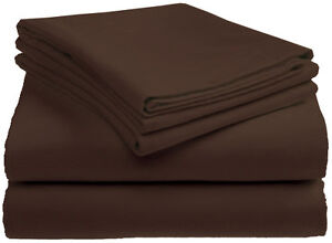Queen&King Size 4 Piece Bed Sheet Set,Flat,Fitted,Pillowcases-12 Color Available