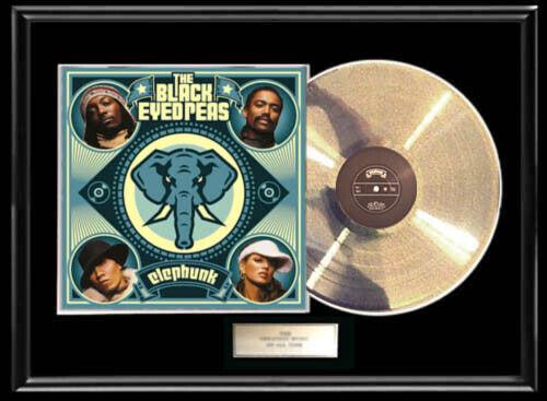 BLACK EYED PEAS ELEPHUNK WHITE GOLD SILVER PLATINUM TONE RECORD LP NON RIAA