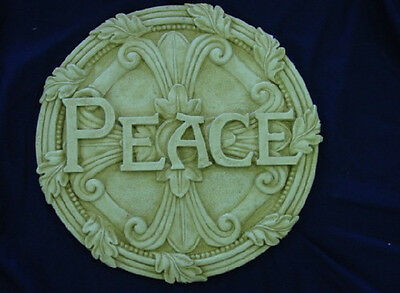 PEACE CONCRETE PLASTER STEPPING STONE PLASTIC MOLD ...