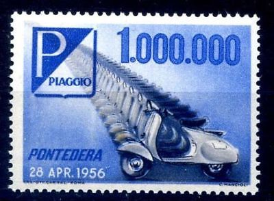 Ultra Rare Italian Vespa Piaggio Postage Stamp 1956 Unused