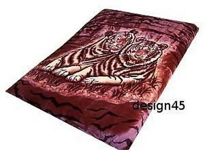 Solaron Korean Blanket Mink Plush twin/full White Tiger Original Licensed throw Acrylic Mink White Tiger Blanket