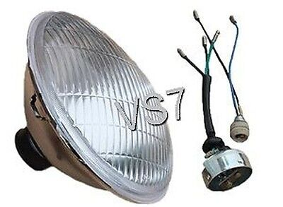"""LUCAS TYPE HEAD LAMP HEAD LIGHT BEAM LENS 7"""" TRIUMPH BSA NORTON AJS MATCHLESS for sale  Shipping to Canada"""