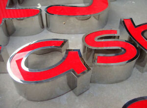 Front-back lit Stainless Steel Advertising LED Channel Letter