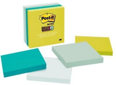4 Packs Post-it Super Sticky Notes 3 X 3 90 Sticky Sheets Total 360.22b