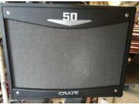 guitar amp crate v50 all valve