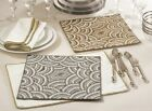 Glass Solid Pattern Placemats