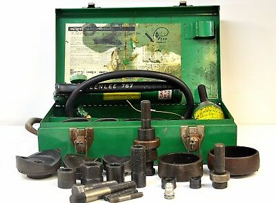 -greenlee 7646 Hydraulic Knockout Punch Driver Set W Hydraulic Ram 767
