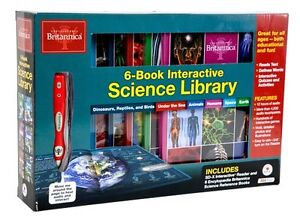 Britannica Interactive Science Library 6-Volume Box Set with Pen