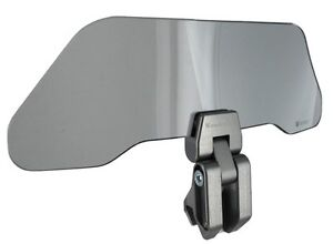 Motorcycle-Windshield-Adjustable-Wind-Deflector-Smoked-Fits-Almost-Every-Bike