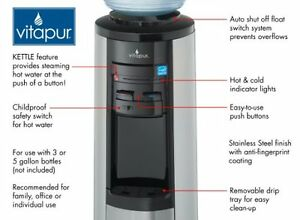 $50 - Stainless Steel Hot/Cold Water Dispenser with bottles