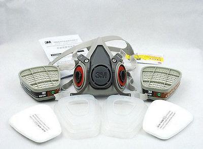 3m 6200 7502 Respirator Painting Spraying Gas Mask Cotton Filtercartridge