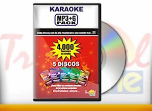 MP3+G Karaoke Pack with 4000 Spanish Songs, ESPANOL, Vocopro, CANCIONES, CD