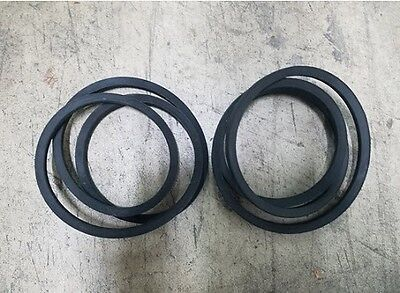 Sitrex 600.139 Sm150 5 Finish Mower Belts Set Of 2. New Replacement