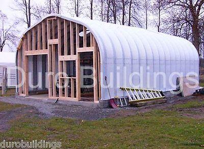 Durospan Steel 25x34x13 Metal Prefab Building Diy Kit Open Ends Factory Direct