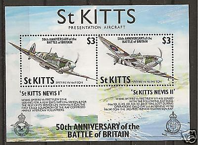 ST. KITTS # 289 BATTLE OF BRITAIN Aerial Combat Planes