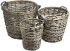 Wicker Round Decorative Baskets