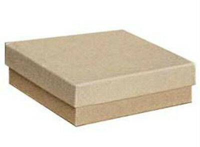 New 100 Cotton-filled Jewelry Boxes Kraft Great For Compacts Large Jewelry