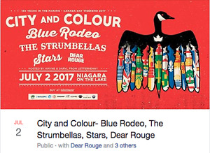 City and Colour, Blue Rodeo July 2