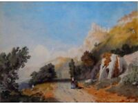 VINTAGE FRENCH SCHOOL WATERCOLOUR CHATEAU GUILLARD PREVIOUSLY SOLD BY CHRISTIES