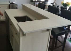 White Quartz top using as Desk top, Tv Stand many other things.. London Ontario image 4