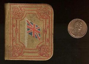 "ca.1900 Miniature Book 1 3/4"" x 2 1/8"" NEW TESTAMENT, UNION JACK"