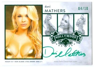 Dani Mathers  Green Composite Comp Card Autograph  10  Benchwarmer Hollywood 15