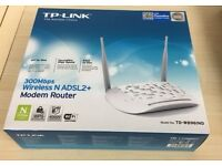 Free Delivery TP-LINK 300Mbps Wireless N ADSL2+ Modem Router, as new used once