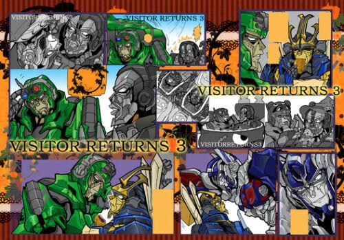 "Transformers Doujinshi ""VISITOR RETURNS 3"" TF.CORPORATION fanbook nazuna"