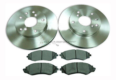 DAEWOO LEGANZA ALL MODELS 1997 2003 NEW 2 FRONT BRAKE DISCS AND PADS SET NEW
