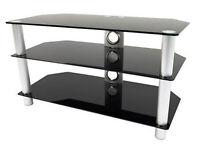 Richer Sounds TV Stand TVS42 - black smoked glass