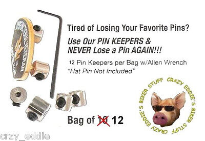 PIN SAVER KEEPERS GUARDS NEVER LOSE YOUR HARLEY PIN AGAIN * FREE USA SHIPPING **