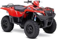 2014 Suzuki 500 King Quad w Power Steering FREE Trailer