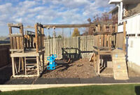 I need a play fort swing set moved to my Acreage.
