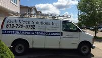 Carpet cleaning specials - Kitchener, Waterloo, Cambridge areas