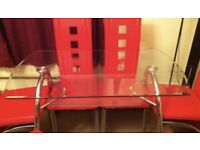 Dinning glass table
