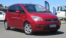 2010 Mitsubishi Colt RG MY08 VR-X Red 5 Speed Manual Hatchback Hillman Rockingham Area Preview