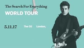 2 tickets to John Mayer in the O2 Thursday 11th of May 40GBP each