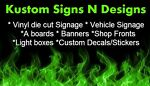 Kustom Signs and decals