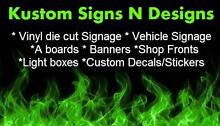 SIGNS - BANNERS - A BOARDS - SIGN WRITING - LETTERING - DECALS Hallam Casey Area Preview