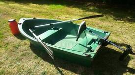 Fishing boat, tender, dinghy, electric outboard