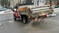 Salting Parking Lots - Snow Plow and Salting Services