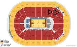 NBA ticket Lower Bowl Front Seat