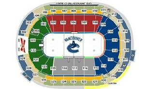 (JAN 2) Colorado Avalanche @ VANCOUVER CANUCKS (LOWER BOWL)